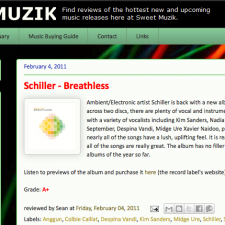 Review of Schiller&#8217;s Breathless on Sweet Muzik