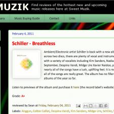 Review of Schiller's Breathless on Sweet Muzik