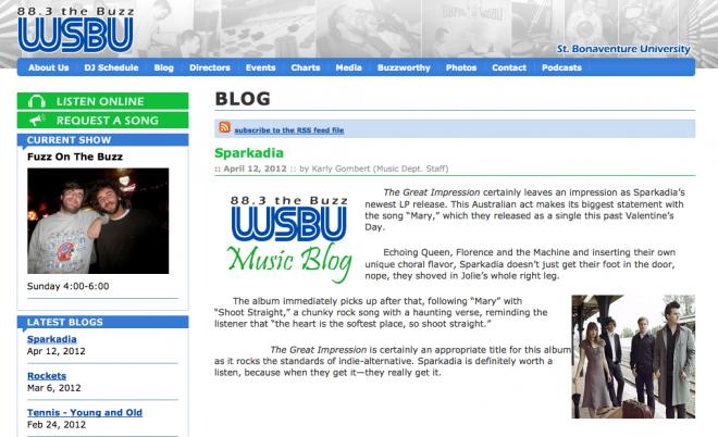 WSBU Reviews Sparkadia