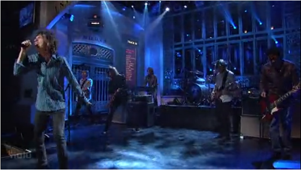 Mick Jagger with Foo Fighters on SNL