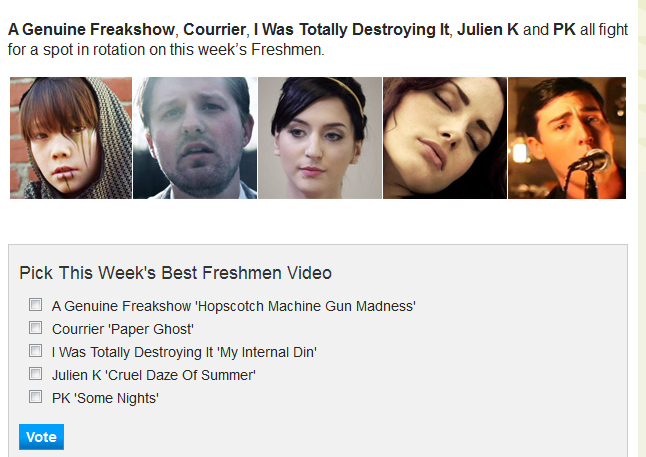 Vote For A Genuine Freakshow For MTV-U's Freshmen Contest!