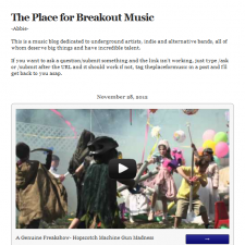 The Place for Breakout Music Feature A Genuine Freakshow!