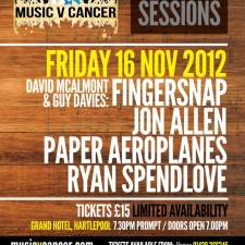 Jon Allen And Paper Aeroplanes To Play MvC Live Sessions This Weekend