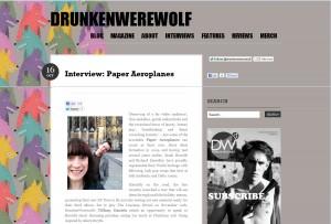 DrunkenWerewolf Interviews Paper Aeroplanes!