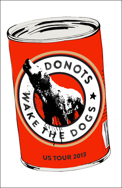 Donots Limited Edition Screen Printed US Tour Posters Now Available