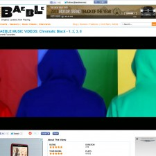 "chromatic BLaCK's ""1,2,3,8″ Video Featured On Baeble Music"