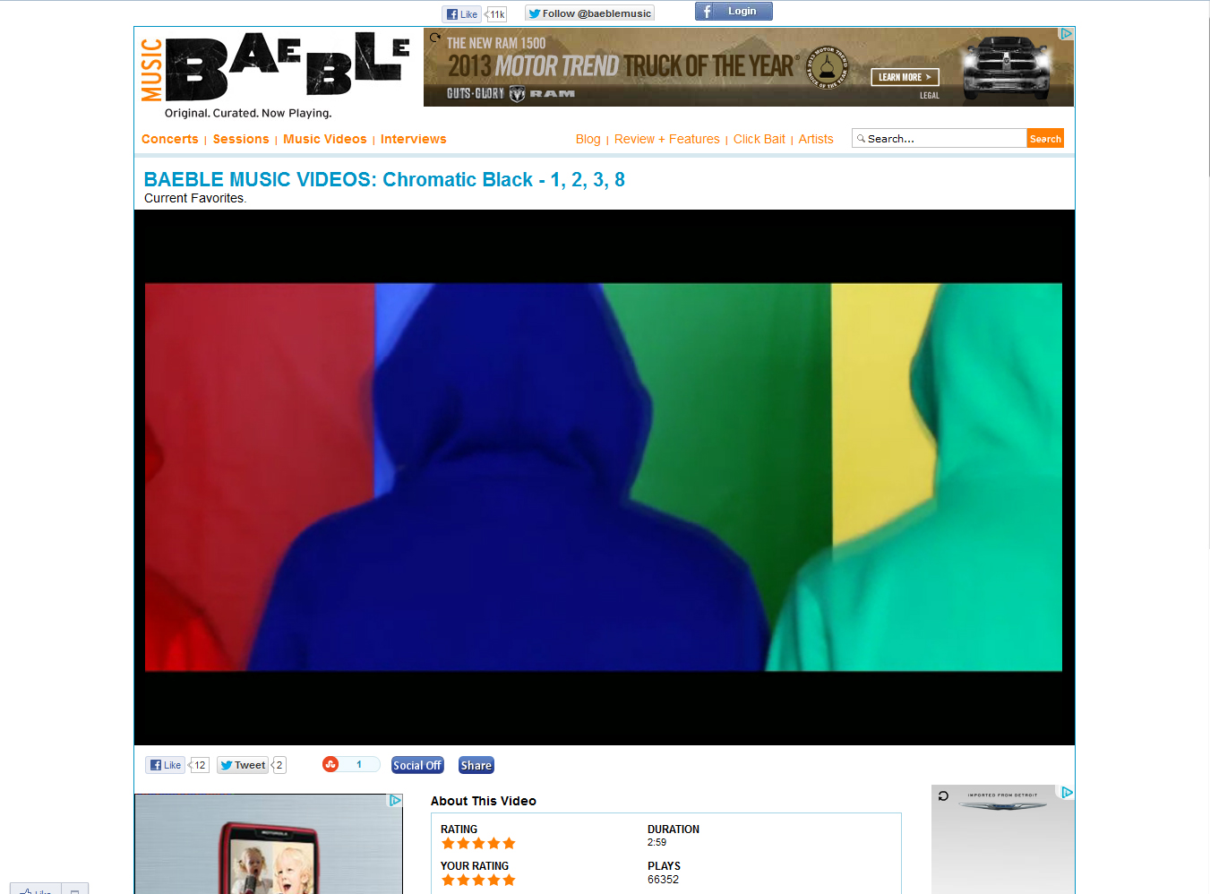 "chromatic BLaCK's ""1,2,3,8"" Video Featured On Baeble Music"