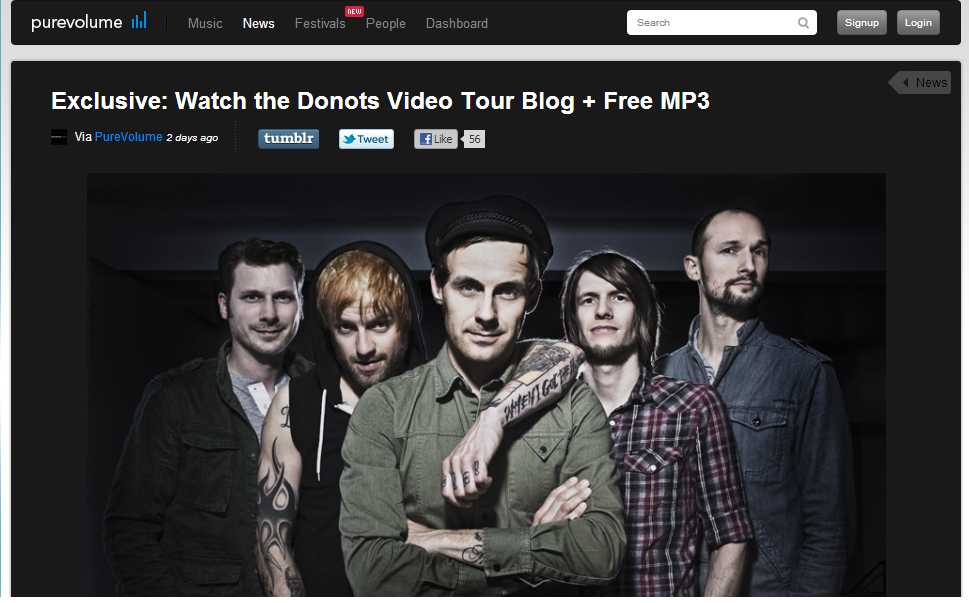 Donots Featured On Purevolume!