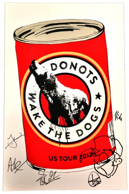 Autographed Donots Limited Edition Screen Printed US Tour Posters