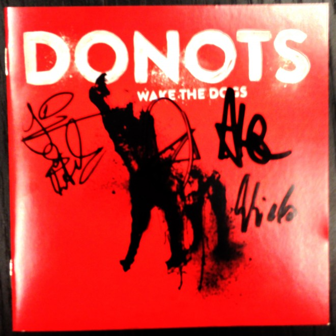 donots wake the dogs signed