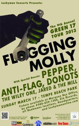 donots, green 17, st. patrick's day, flogging molly, anti-flag, pepper