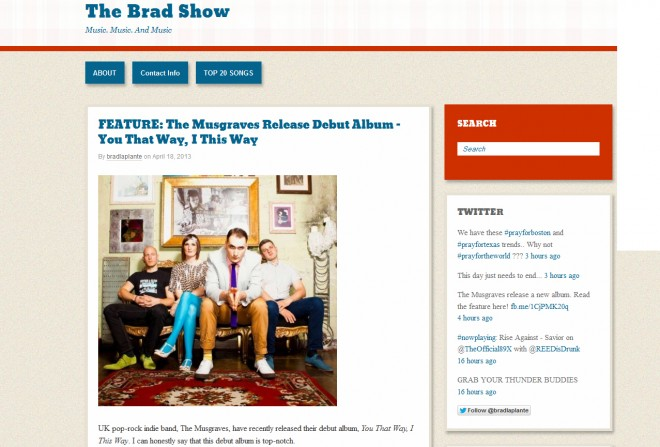 The Musgraves Featured On The Brad Show
