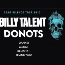 Check Out Video Footage Of Donots On The Billy Talent Tour