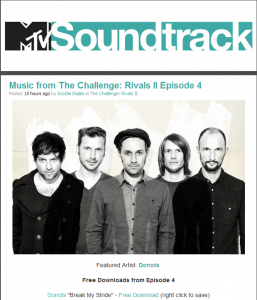 Donots Are The Featured Artists On MTV Soundtrack
