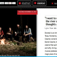 Dovetail Featured On Band of the Day App
