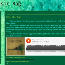 "The Music Rag Features Dovetail's ""See The Sun"""