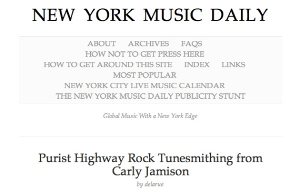 Carly Jamison Reviewed By New York Music Daily!