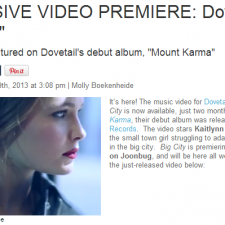 "Dovetail's ""Big City"" Music Video Premieres On Joonbug!"