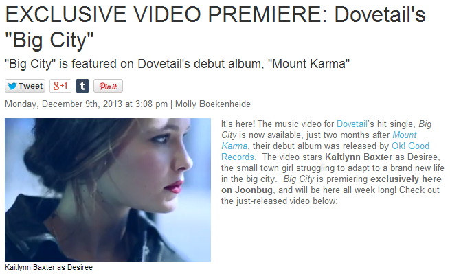 Dovetail Joonbug Big City Exclusive Premiere Music Video