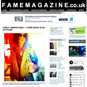 Carly Jamison Interviewed By Fame Magazine!
