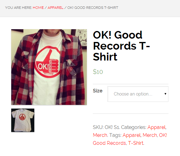 Ok! Good Records T-Shirt Merch Store