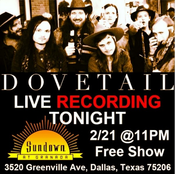 Dovetail Live Recording Sundown at Granada