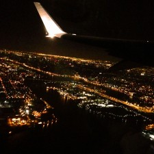 Early morning flight out of NYC.