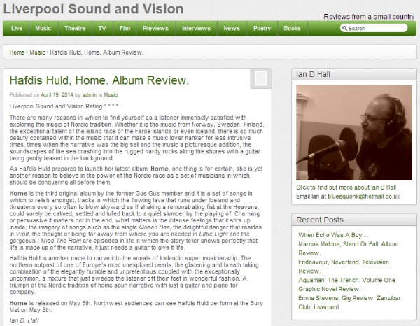 Hafdis Huld Home Album Review Gus Gus Liverpool Sound Vision
