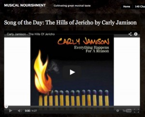 """Carly Jamison's """"The Hills of Jericho"""" is Musical Nourishment's Song of the Day!"""