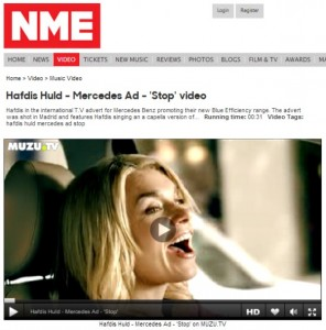 See Hafdis Huld's Mercedes Commercial on NME.com