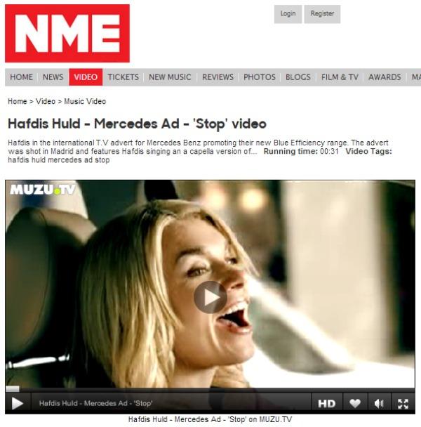 Hafdis Huld NME.com Mercedes Commercial