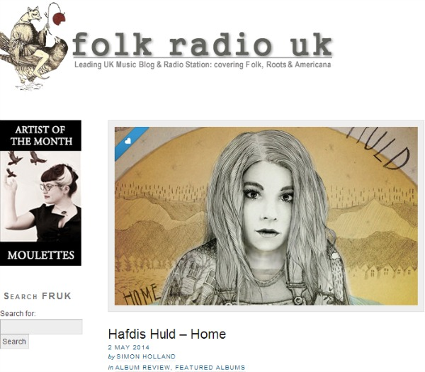 Hafdis Huld Folk Radio UK