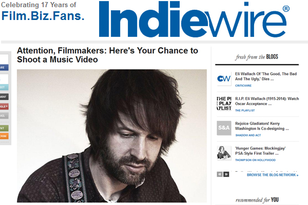 "Indiewire Announces ""Night & Day"" Music Video Contest"