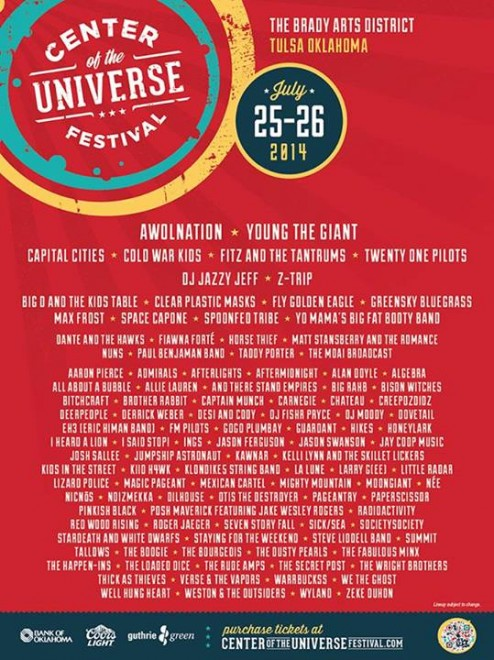 Dovetail Added to Center of the Universe Festival With AWOLNATION, Young the Giant, Capital Cities & More!