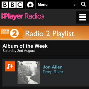 Jon Allen's 'Deep River' Named BBC Radio 2's Album of the Week