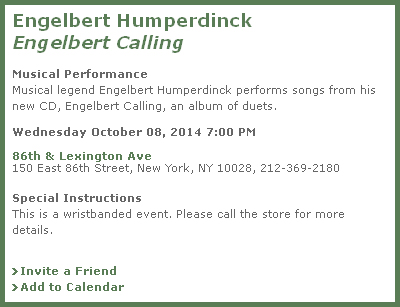 Engelbert Humperdinck Barnes & Noble