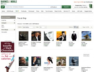 Engelbert Calling CD #1 On Barnes & Noble Vocal Pop Sales Chart