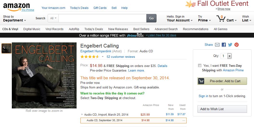 Engelbert Calling On Amazon