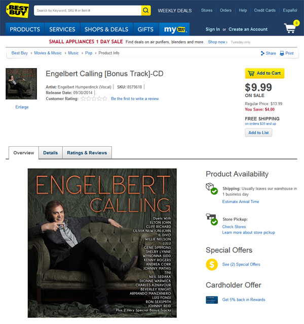 Engelbert Calling Best Buy Sale