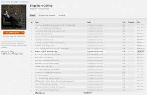 Engelbert Calling Now Available for Pre-Order on iTunes
