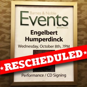 Meet Engelbert Humperdinck at Barnes & Noble NYC In-store Appearance on October 8th, 2014
