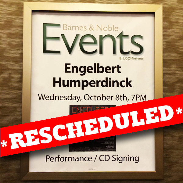 Engelbert Barnes & Noble Rescheduled
