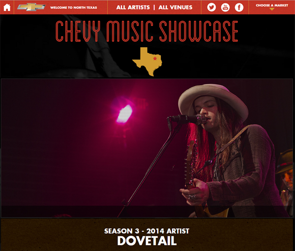 Dovetail Chevy Music Showcase