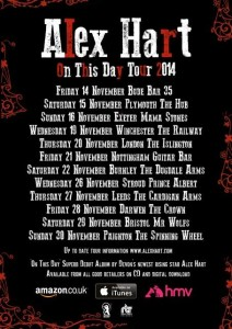Alex Hart Announces Dates for On This Day Tour 2014