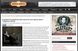 Engelbert Humperdinck Featured on Media Mikes