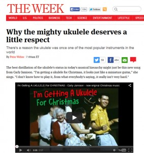 "Carly Jamison's ""I'm Getting a Ukulele For Christmas"" Featured on TheWeek.com"
