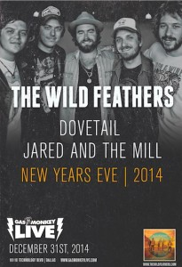 Dovetail & The Wild Feathers to Perform New Year's Eve Party at Gas Monkey Live!