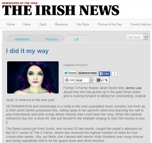 The Irish News Talks With Janet Devlin About Taking Her Music to America