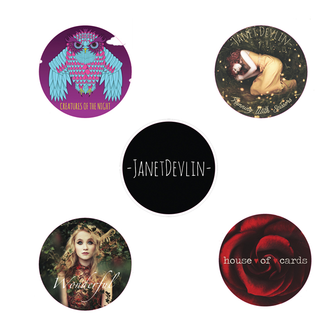 Janet Devlin Discography Sticker Pack