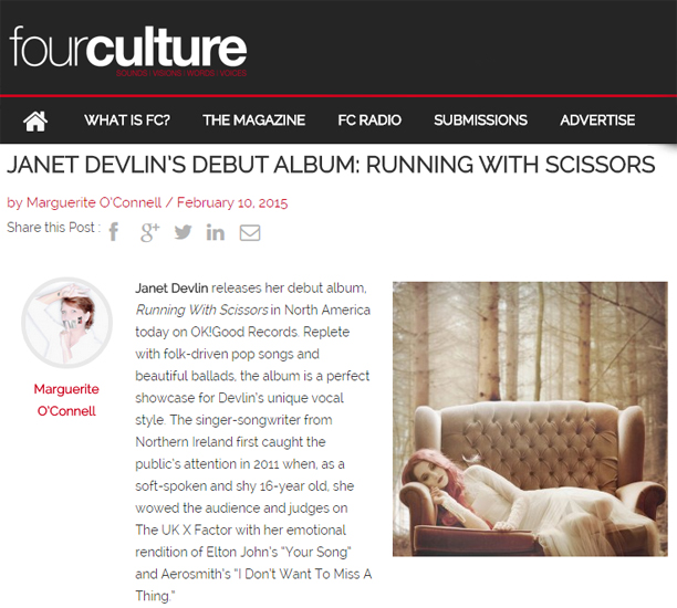 Four Culture Reviews Janet Devlin's Running With Scissors